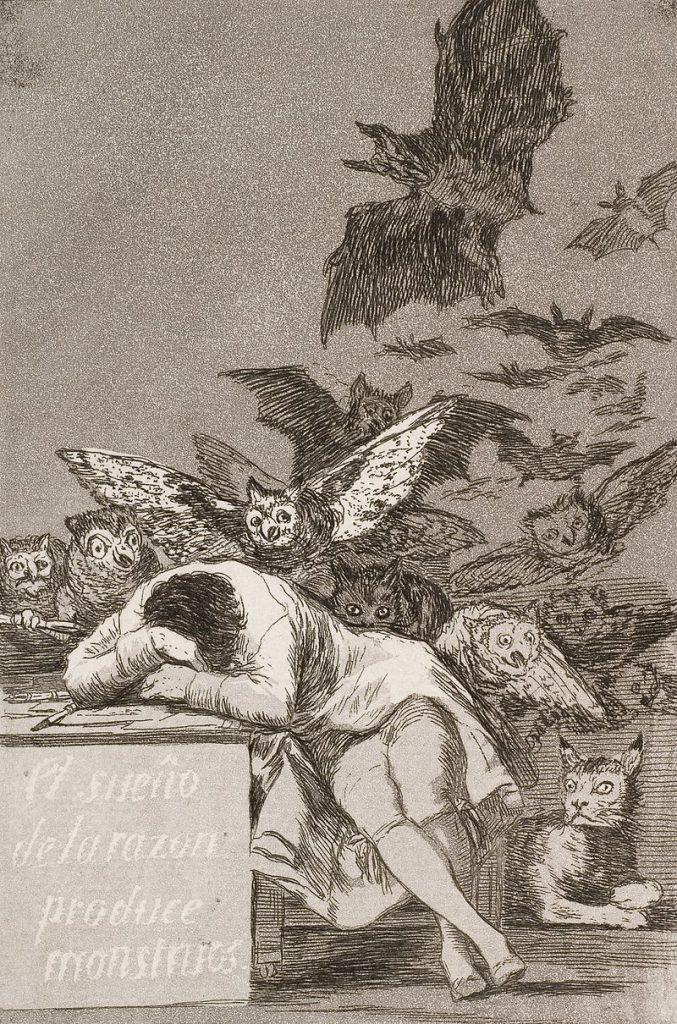 Il sonno della ragione genera mostri, Francisco Goya