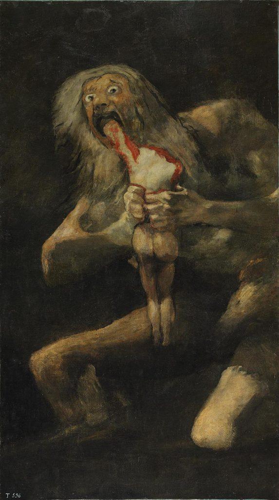 Saturno che divora i suoi figli, Francisco Goya