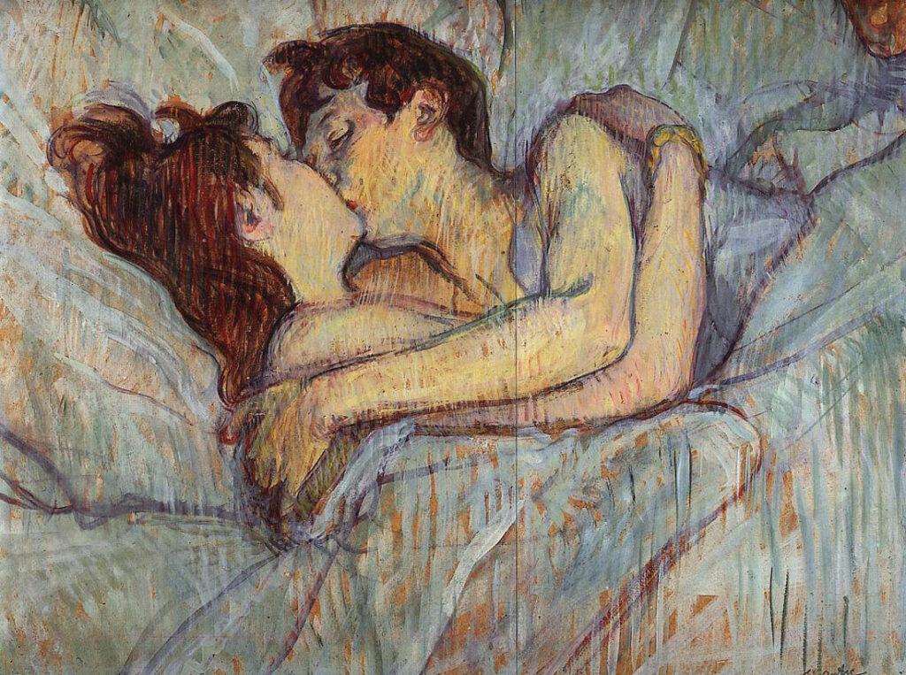 A letto, il bacio di Toulouse Lautrec