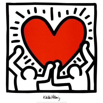 Cuore di Keith Haring